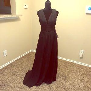 So Chic! M Lulu's Long Black Dress With Slit